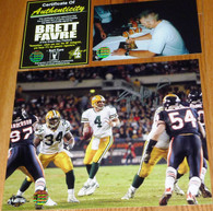 GREEN BAY PACKERS BRETT FAVRE 4 AUTOGRAPHED vs Bears Brian Urlacher 8x10 OFFICIAL LOGO PHOTO Brett Favre Authentic COA