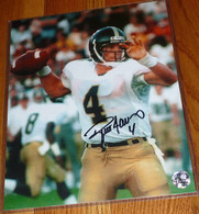 RARE Original Brett Favre cracked ice Holograms and Original Certificate of AUthenticity -  GREEN BAY PACKERS BRETT FAVRE 4 AUTOGRAPHED Signed Southern Miss Mississippi Eagles 8x10 PHOTO Matching Holograms with Official Brett Favre COA, signing photo with toploader