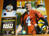 GREEN BAY PACKERS BRETT FAVRE 4 SIGNED LIMITED ED PRACTICE JERSEY 8x10 PHOTO Brett Favre Authentic COA