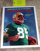 GREEN BAY PACKERS Max McGee Signed Autographed Super Bowl SI COVER 11x14 PHOTO