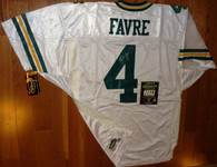 BRETT FAVRE 4 AUTOGRAPHED WILSON AUTHENTIC White Road PRO LINE GREEN BAY PACKERS JERSEY  Authentic Brett Favre COA