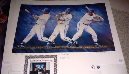 George Brett SIGNED Autographed Limited Edition PREMIUM #1 of 21 CE signed by Artist Andy GORALSKI A ROYAL CAREER Lithograph with COA LE 1 of 21 Conservation Edition