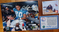 DETROIT LIONS BARRY SANDERS SIGNED 8x10 2000 yard season PHOTO SCHWARTZ COA HOLO