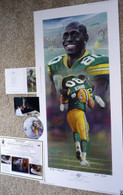 DONALD DRIVER 80 AUTOGRAPHED DRIVEN GREEN BAY PACKERS LITHOGRAPH ANDY GORALSKI SIGNED with DVD COA AUTHENTICATION LIMITED EDITION 3 of only 50 AP Artist Andy Goralski DVD & COA Authentication with Signing photo