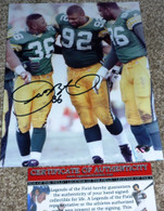 GREEN BAY PACKERS LeRoy Butler 36 Signed Reggie White Sean Jones 8x10 PHOTO COA