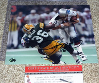 GREEN BAY PACKERS LeRoy Butler Signed SB XXXI Drew Bledsoe Sack 8x10 PHOTO COA