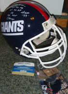 Lawrence Taylor Giants Autographed Proline Authentic NY GIANTS Career Stat Helmet!
