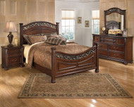 Leahlyn Warm Brown 6 Pc. Dresser, Mirror, Queen Panel Bed & Nightstand
