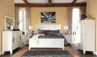 Prentice White 8 Pc. Dresser, Mirror, Door Chest, Queen Panel Bed & 2 Nightstands