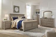 Lettner Light Gray 8 Pc. Dresser, Mirror, Chest, Queen Panel Bed & 2 Nightstands