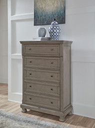 Lettner Light Gray Five Drawer Chest