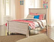 Willowton Whitewash Full Panel Bed