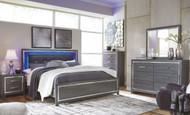 Lodanna Gray 6 Pc. Dresser, Mirror, Chest & King Panel Bed