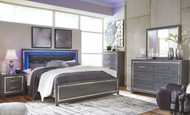 Lodanna Gray 8 Pc. Dresser, Mirror, Chest, King Panel Bed & 2 Nightstands