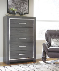 Lodanna Gray Five Drawer Chest