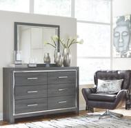 Lodanna Gray Dresser & Mirror