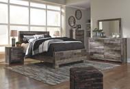 Derekson Multi Gray 7 Pc. Queen Panel Bed, Dresser, Mirror, Chest & Nightstand