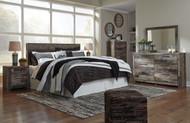 Derekson Multi Gray 6 Pc. King Panel Headboard, Dresser, Mirror, Chest & Nightstand