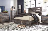 Drystan Multi 8 Pc. Dresser, Mirror, Chest, Queen Panel Bed & 2 Nightstands