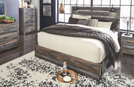 Drystan Multi 9 Pc. Dresser, Mirror, King Panel Storage Bed & 2 Nightstands