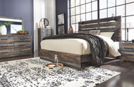 Drystan Multi 7 Pc. Dresser, Mirror, King Panel Bed & 2 Nightstands