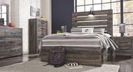 Drystan Multi Dresser, Mirror, Chest & Full Panel Bed with Storage
