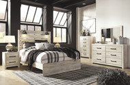 Cambeck Whitewash 7 Pc. Dresser, Mirror, Queen Panel Bed & 2 Nightstands