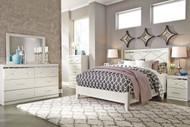 Dreamur Champagne 6 Pc. Dresser, Mirror, Queen Panel Bed & 2 Nightstands