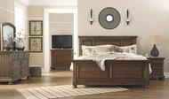 Flynnter Medium Brown 5 Pc. Dresser, Mirror & King Panel Bed