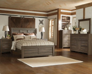 Juararo Dark Brown 7 Pc. Dresser, Mirror, Queen Panel Bed & 2 Nightstands