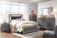 Lodanna Gray 6 Pc. Dresser, Mirror, Full Panel Bed & Nightstand