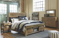 Sommerford Brown 5 Pc. Dresser, Mirror & King Storage Bed