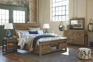 Sommerford Brown 7 Pc. Dresser, Mirror, King Storage Bed & 2 Nightstands