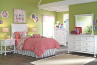 Kaslyn White 3 Pc. Dresser, Mirror & Twin Panel Headboard