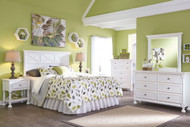 Kaslyn White 5 Pc. Dresser, Mirror, Queen Panel Headboard & 2 Nightstands