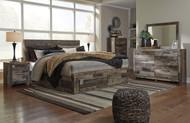 Derekson Multi Gray 10 Pc. Dresser, Mirror, Chest, King Panel Storage Bed & 2 Nightstands