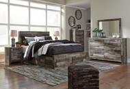 Derekson Multi Gray 10 Pc. Dresser, Mirror, Chest, Queen Panel Storage Bed & 2 Nightstands