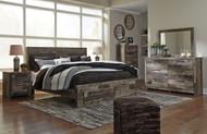 Derekson Multi Gray 8 Pc. Dresser, Mirror, King Storage Footboard Bed & 2 Nightstands