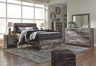 Derekson Multi Gray 8 Pc. Dresser, Mirror, Queen Storage Footboard Bed & 2 Nightstands
