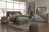 Derekson Multi Gray 9 Pc. Dresser, Mirror, Chest, King Storage Footboard Bed & 2 Nightstands