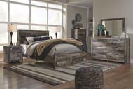 Derekson Multi Gray 9 Pc. Dresser, Mirror, Chest, Queen Storage Footboard Bed & 2 Nightstands