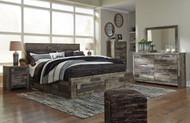 Derekson Multi Gray 9 Pc. Dresser, Mirror, King Panel Storage Bed & 2 Nightstands