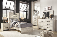 Cambeck Whitewash 8 Pc. Dresser, Mirror, Chest, Twin Panel Bed & 2 Nightstands