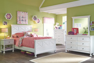 Kaslyn White 7 Pc. Dresser, Mirror, Full Panel Bed & 2 Nightstands