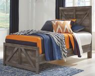 Wynnlow Gray Twin Crossbuck Panel Bed