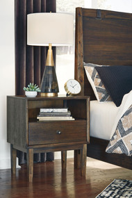 Kisper Brown One Drawer Night Stand