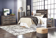 Drystan Multi 5 Pc. Dresser, Mirror, Chest, Queen Panel Headboard & Nightstand