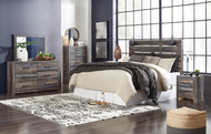 Drystan Multi 5 Pc. Dresser, Mirror, Chest, King Panel Headboard & Nightstand