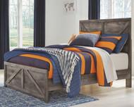 Wynnlow Gray Full Crossbuck Panel Bed