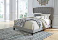 Vintasso Gray King Upholstered HDBD/FTBD/Roll Slats